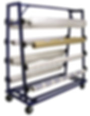 125 Roll Storage Unwinding Cart Truck