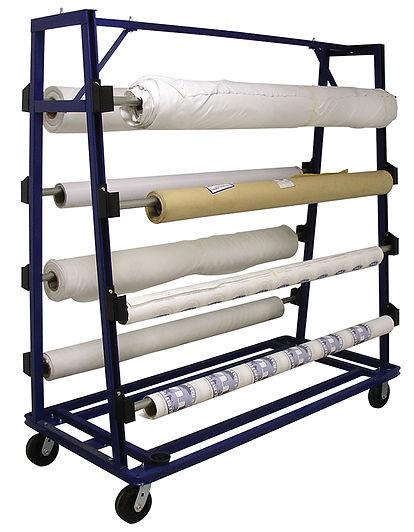 MODEL 125 Fabric Roll Storage & cloth Unwind Cart