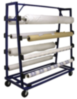 125 Fabric Roll Storage Unwind Cart AIT
