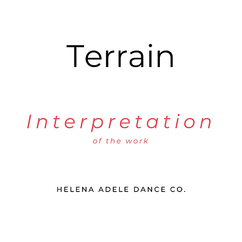 Terrain - Interpretation of the Work