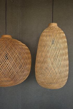 PL05 Extra Large - Oversized Flexible Bamboo Pendant Light, Boho Asian Lantern