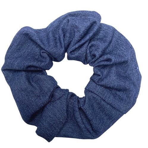 Deep Blue Denim Scrunchie