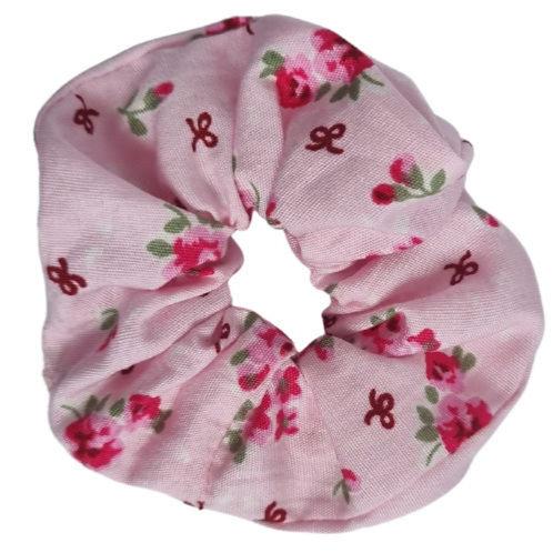 Pink Floral Baby Scrunchie