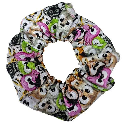 Animal Faces Scrunchie