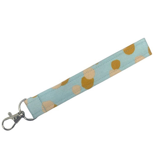Mint Dot Key Fob Wristlet