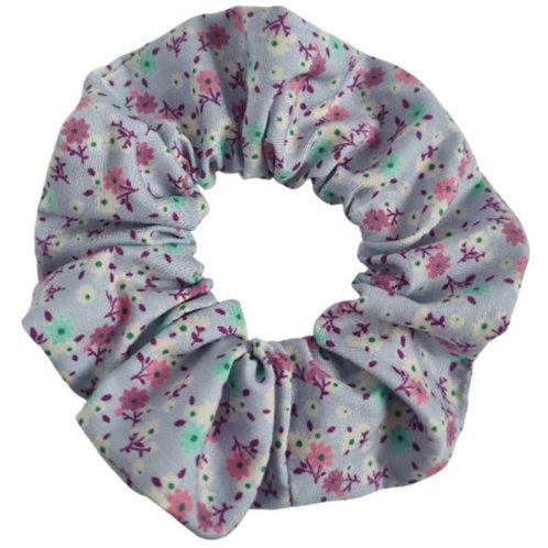 Lilac Floral Scrunchie