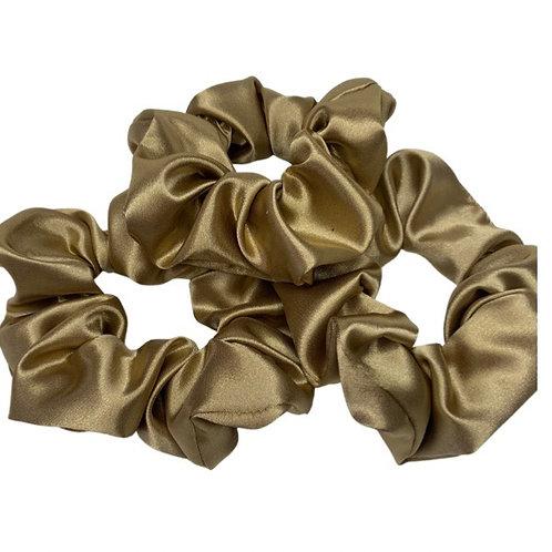Supersoft gold Satin scrunchie
