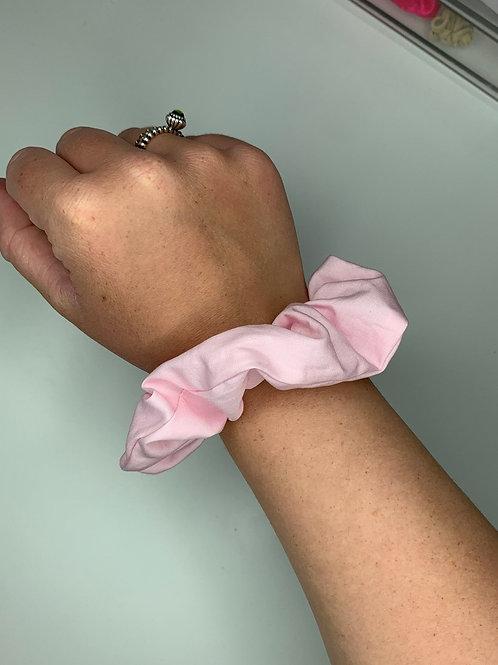 Plain Pink Cotton Scrunchie