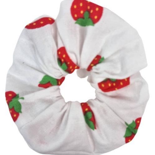 White Strawberry Baby Scrunchie