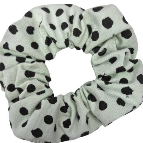 Mint Spotty Scrunchie