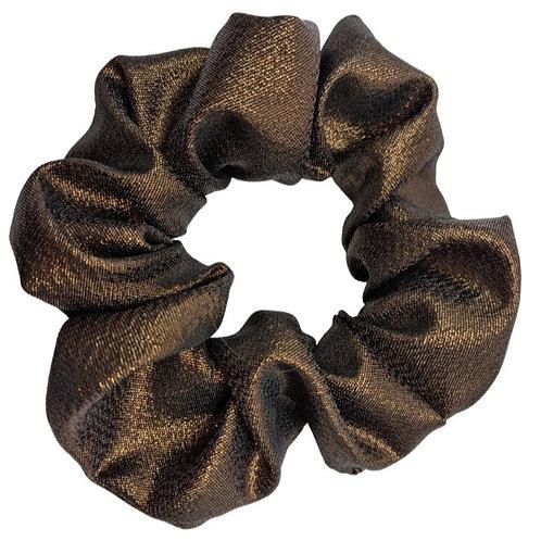 Brown Scrunchie with Gold Flecks