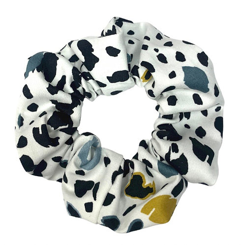 Leopard Blue/Yellow Scrunchie