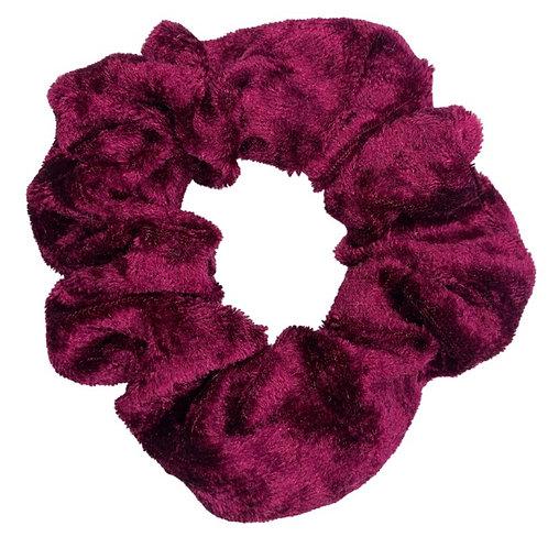 Wine Crushed Velvet Scrunchie