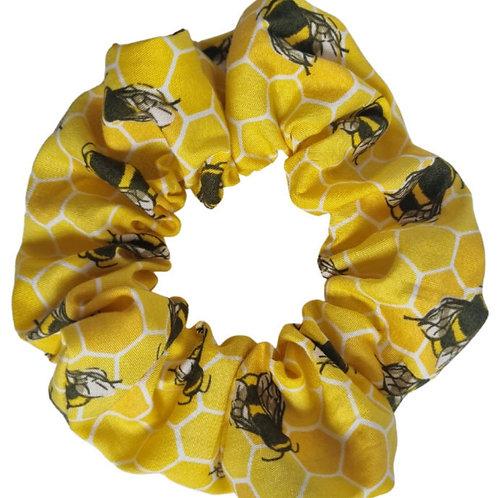 Honeycombe Bee Scrunchie