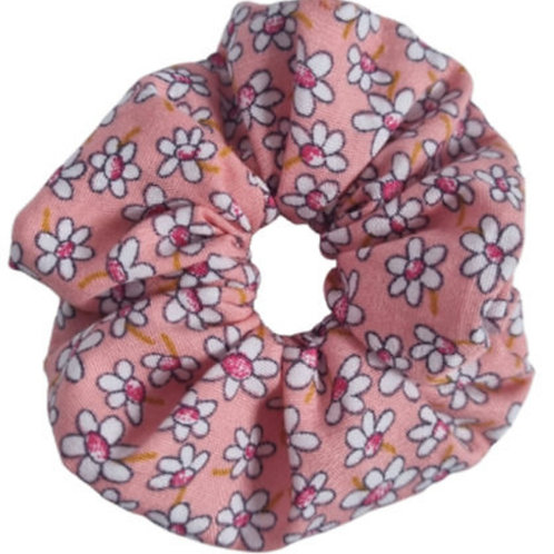 Peach Daisy's Baby Scrunchie