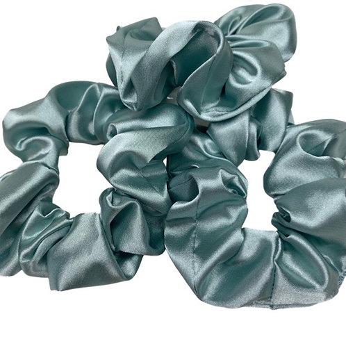 Baby Blue super soft Satin scrunchies