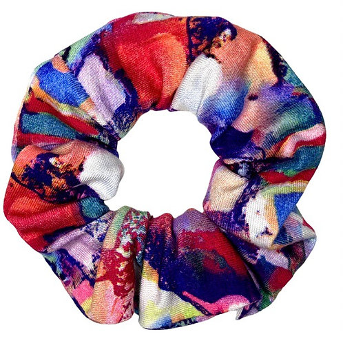 Abstract Jersey Scrunchie