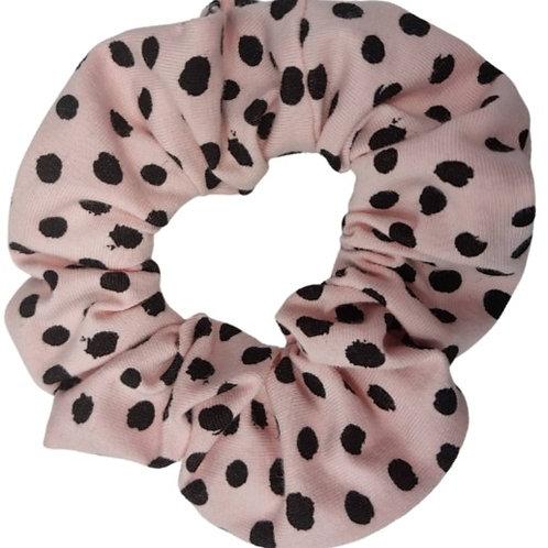 Pale Pink Spotty Scrunchie