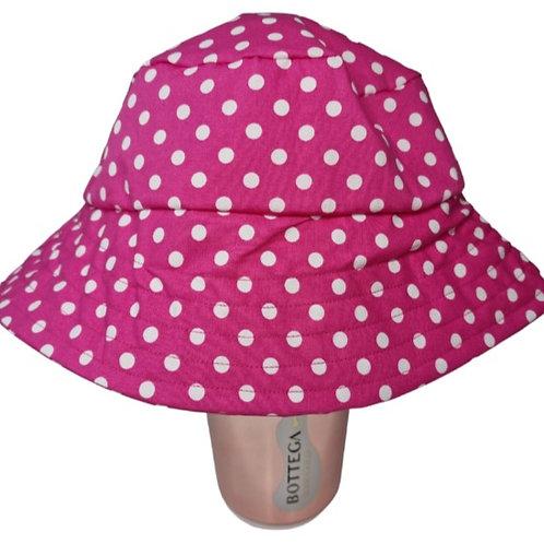 Pink Spotty Bucket Hat