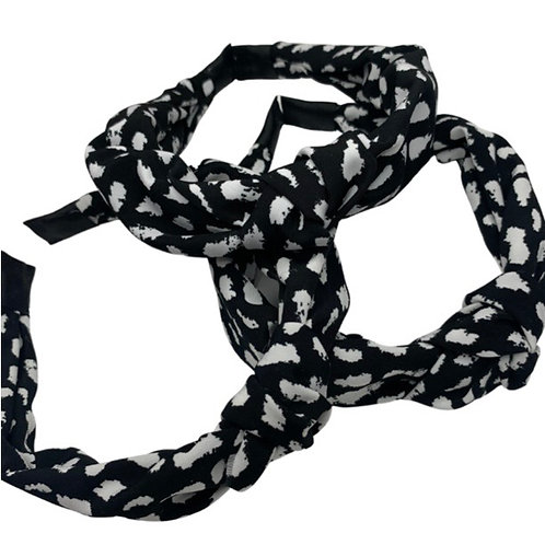 White Splodge Headband