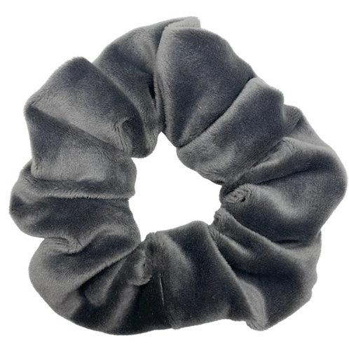Super Soft Grey Velvet Scrunchie