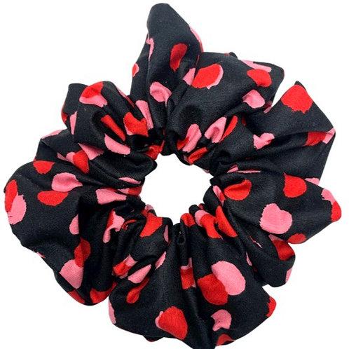Black Dot Maxi Scrunchie