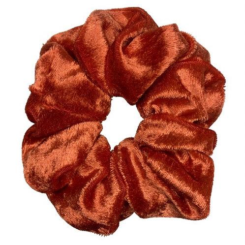 Orange Velvet Maxi Scrunchie