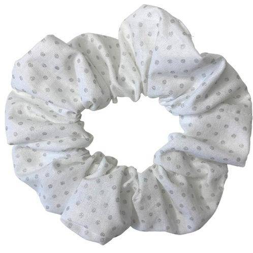 Silver Spotty Scrunchie