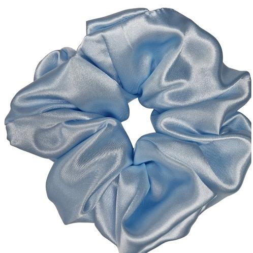 Pale Blue Satin Maxi Scrunchie