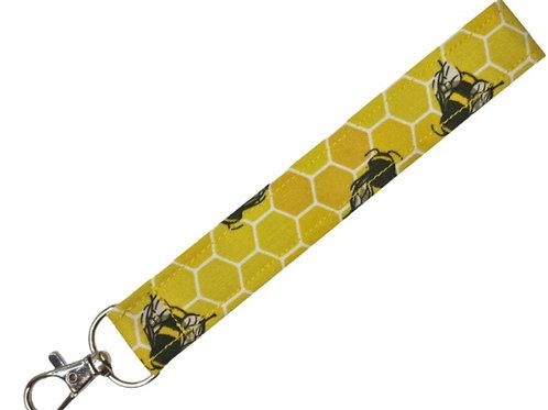 Yellow Bee Keyfob