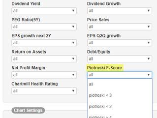 Piotroski F-score toegevoegd in onze stockscreener (enkel voor US-aandelen).