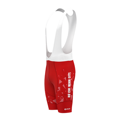 Male HCMC Cycling Team Bib Shorts Official Red