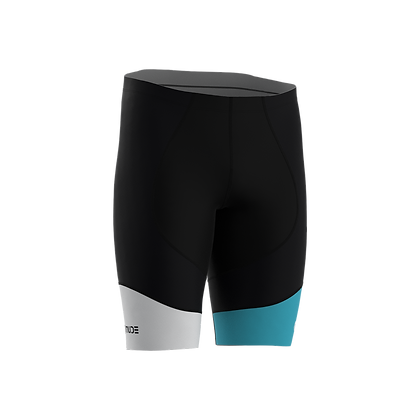 Male Cycling Shorts HIPS Black and Turquoise