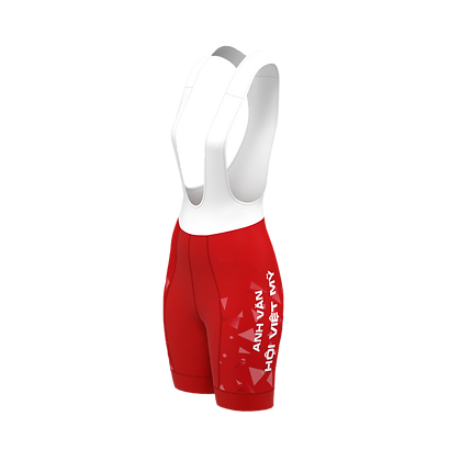 Female HCMC Cycling Team Bib Shorts Official Red