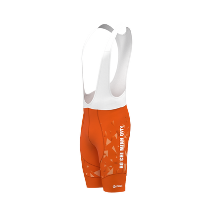 Male HCMC Cycling Team Bib Shorts Official Orange