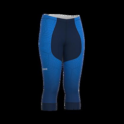 Female Under Knee Cycling Pants BCN Tiles Blue
