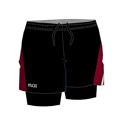 Male 2-in-1 Running shorts with tights REXX Black
