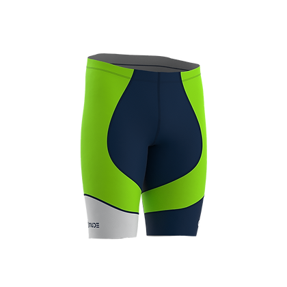 Male Cycling Shorts HIPS Green Fluor