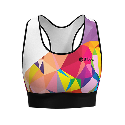 Tank Top Sports Bra - Áo ngực thể thao PRISMA Pink - Front