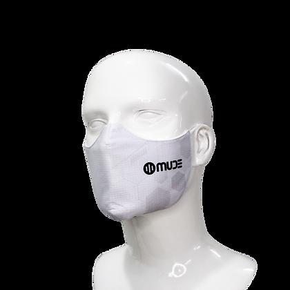 3D Mask White Hexagon