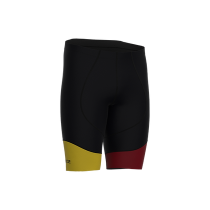Male Cycling Shorts HIPS Black and Bordeaux