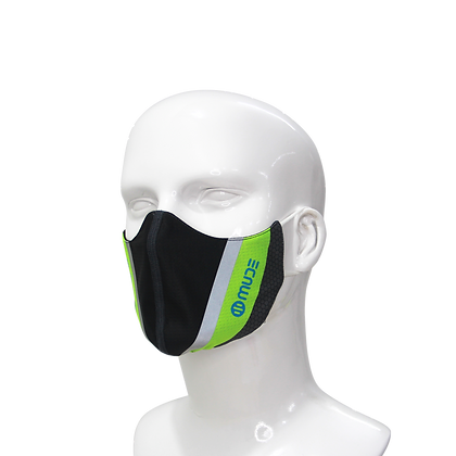 Performance Mask Neon Black and Green