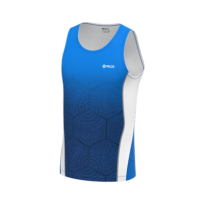 Male Singlet BCN Tiles Blue