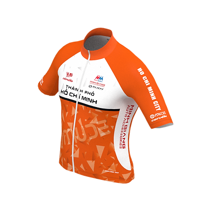 Male HCMC Cycling Team Jersey Official Orange