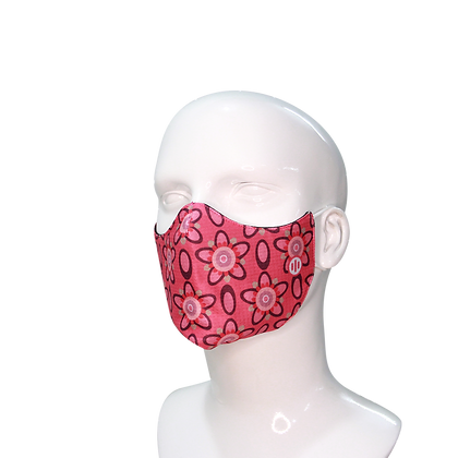 3D Mask Coral Flowers
