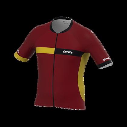 Male Cycling Jersey HIPS Bordeaux