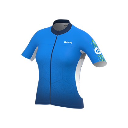 Female Cycling Jersey BCN Tiles Blue