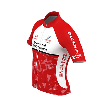 Male HCMC Cycling Team Jersey Official Red
