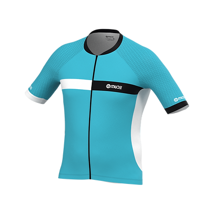 Male Cycling Jersey HIPS Turquoise
