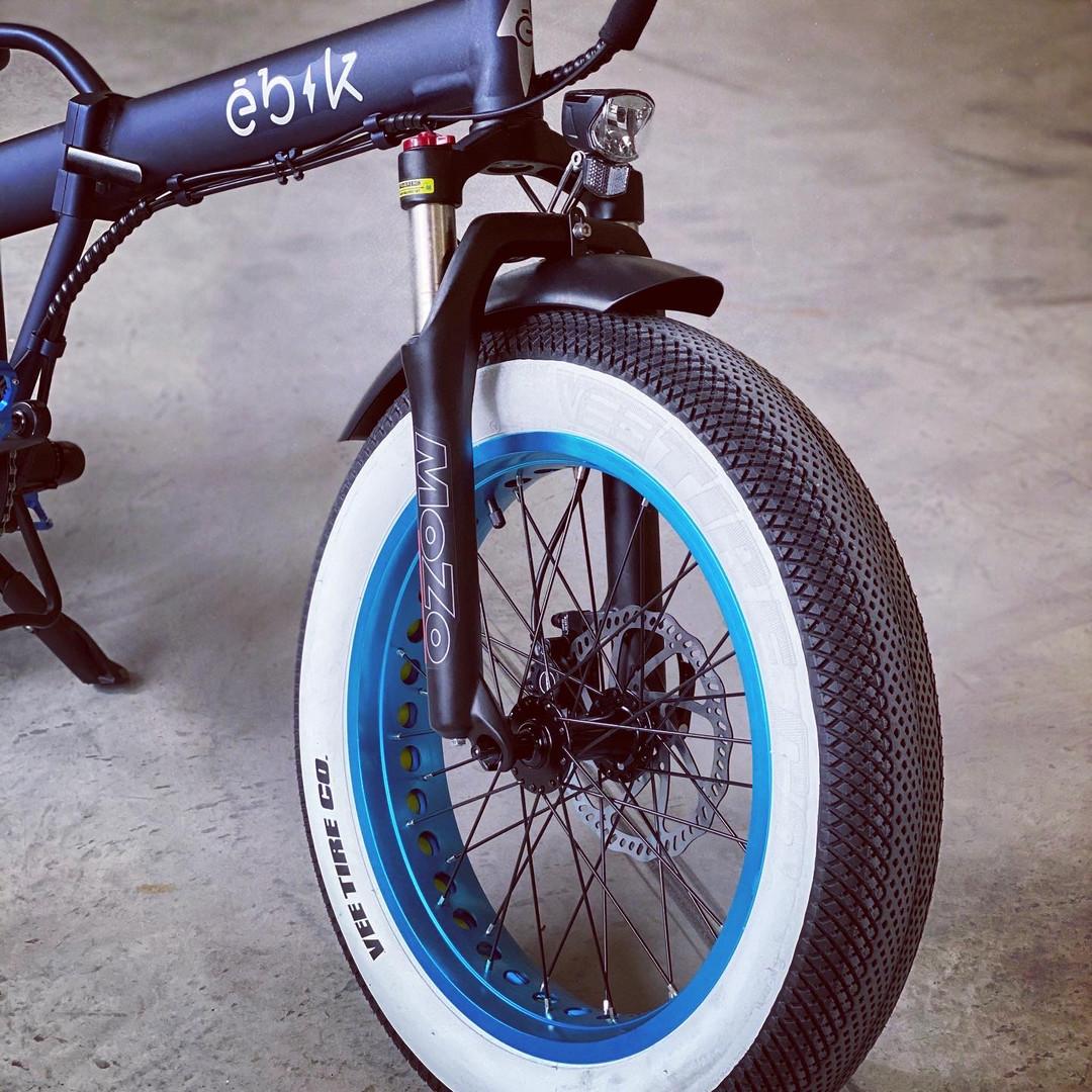 Ebik Blue anodized rims